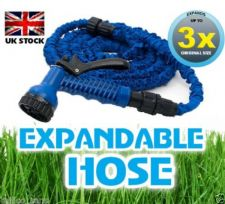 BLUE 75ft EXPANDING MAGIC POWERFUL HOSE PIPE GARDEN WITH FREE 7 SPEED SPRAY